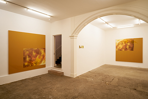 Photograph showing Laura Langer's exhibition at Piper Keys