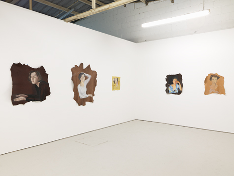 Photograph showing Allison Katz' exhibition at Piper Keys