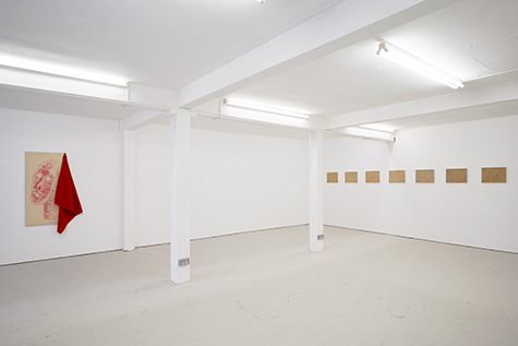 artwork exhibited in a gallery