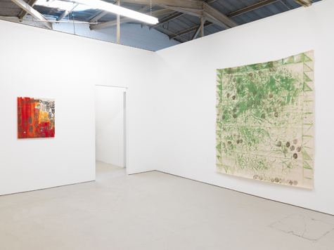 Photograph showing Lucy Stein's exhibition at Piper Keys