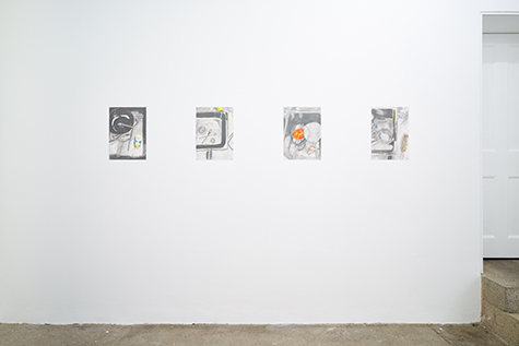Photograph showing Manuela Gernedel's exhibition at Piper Keys