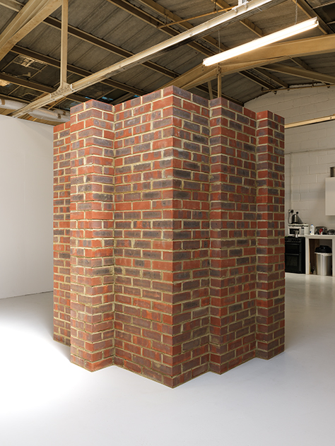 Photograph showing Per Kirkeby's Brick Sculpture at Piper Keys