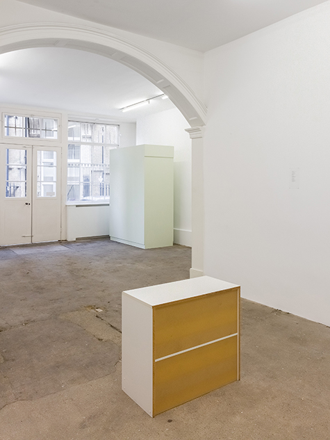 Photograph showing Ian Law's exhibition at Piper Keys