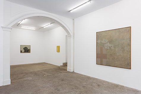 Photograph showing the Rachal Bradley and Prunella Clough exhibition at Piper Keys